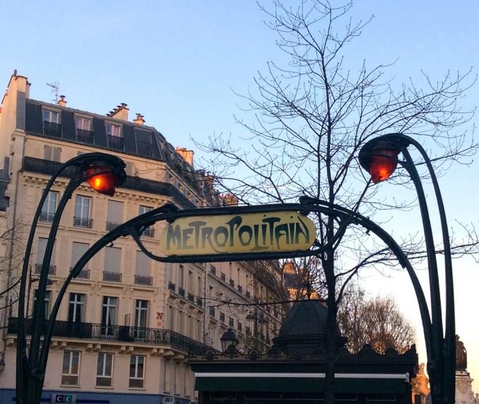 Pariser Metro-Eingang, Jugendstil