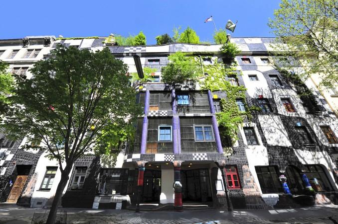 Kunsthaus Wien, entworfen von Friedensreich Hundertwasser