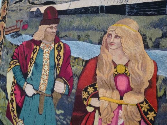Wandteppich Museum Skógar