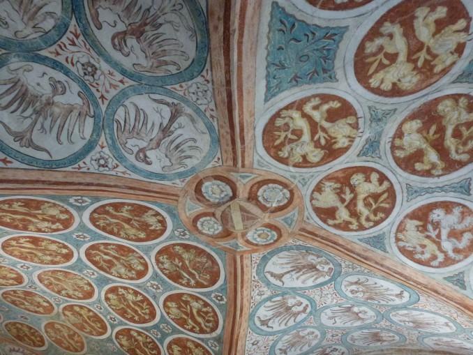 Minnesängersaal Ulm, Deckenmalerei