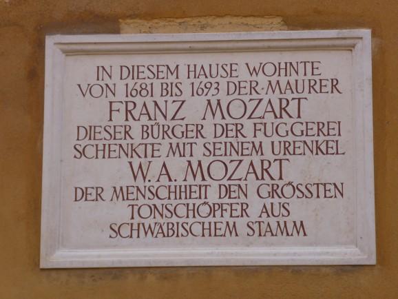 Fuggerei Augsburg: Mozarts Urgroßvater