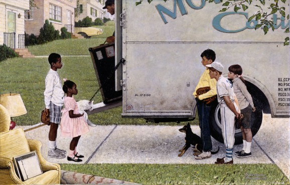 norman-rockwell-new-kids-in-the-neighborhood-1967