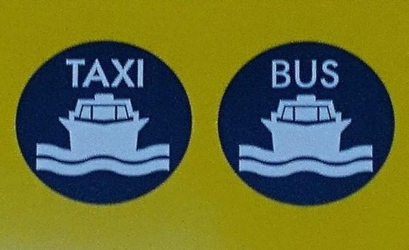 Venice boat signs