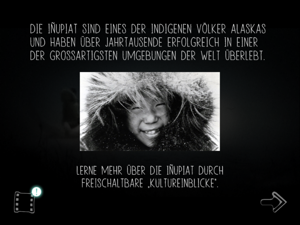 "Aus dem Computerspiel ""Never Alone"""