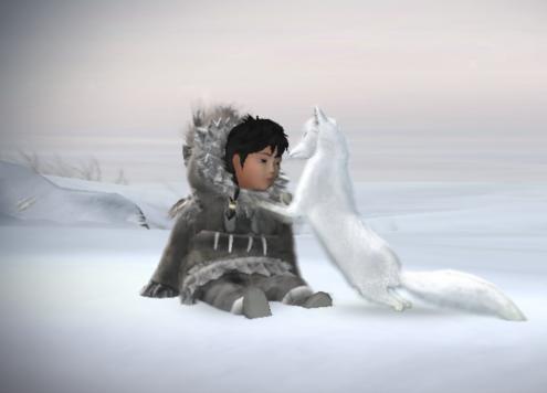 """Nuna und ihr Polarfuchs: aus dem Videospiel """"Never Alone"""""""