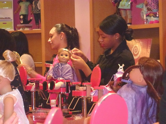 American Girl Place hairdresser