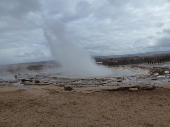 Island mit Kindern: Geysir Strokkur
