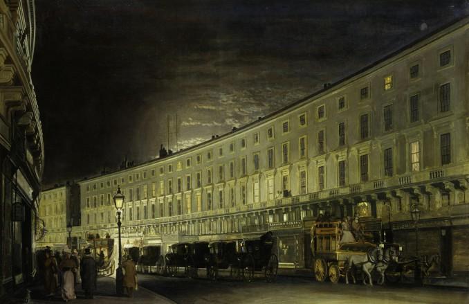 Francis Foster: The Regent Street Quadrant at Night, 1897