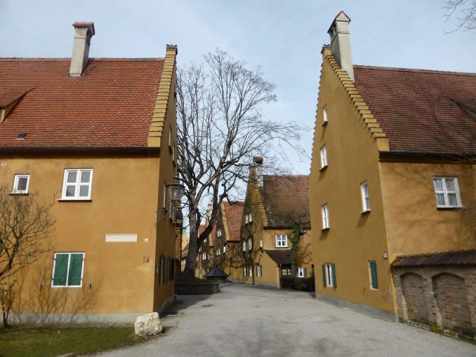 In der Fuggerei in Augsburg