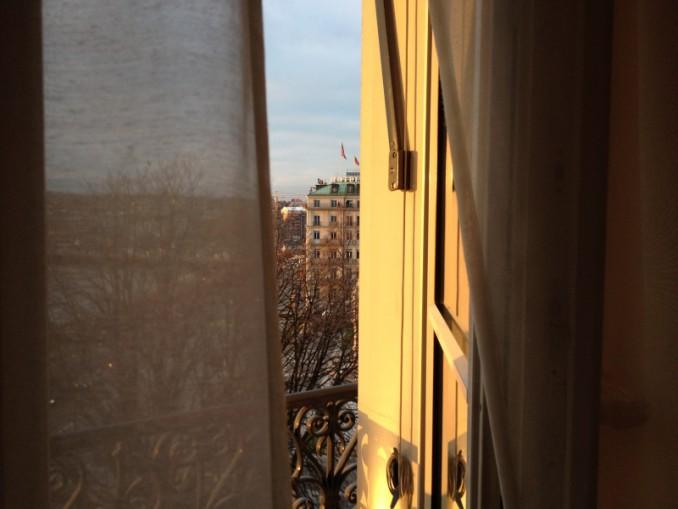 Genf: Bilck aus dem Fenster