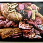 Fleisch-Kunst in der Villa Rot
