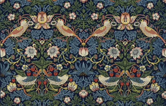 William Morris: Strawberry Thief pattern