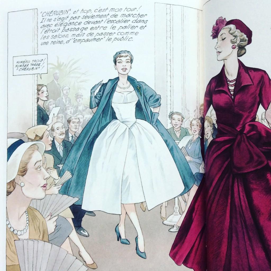 "Aus dem Mode-Comic ""Jeune Fille en Dior"""