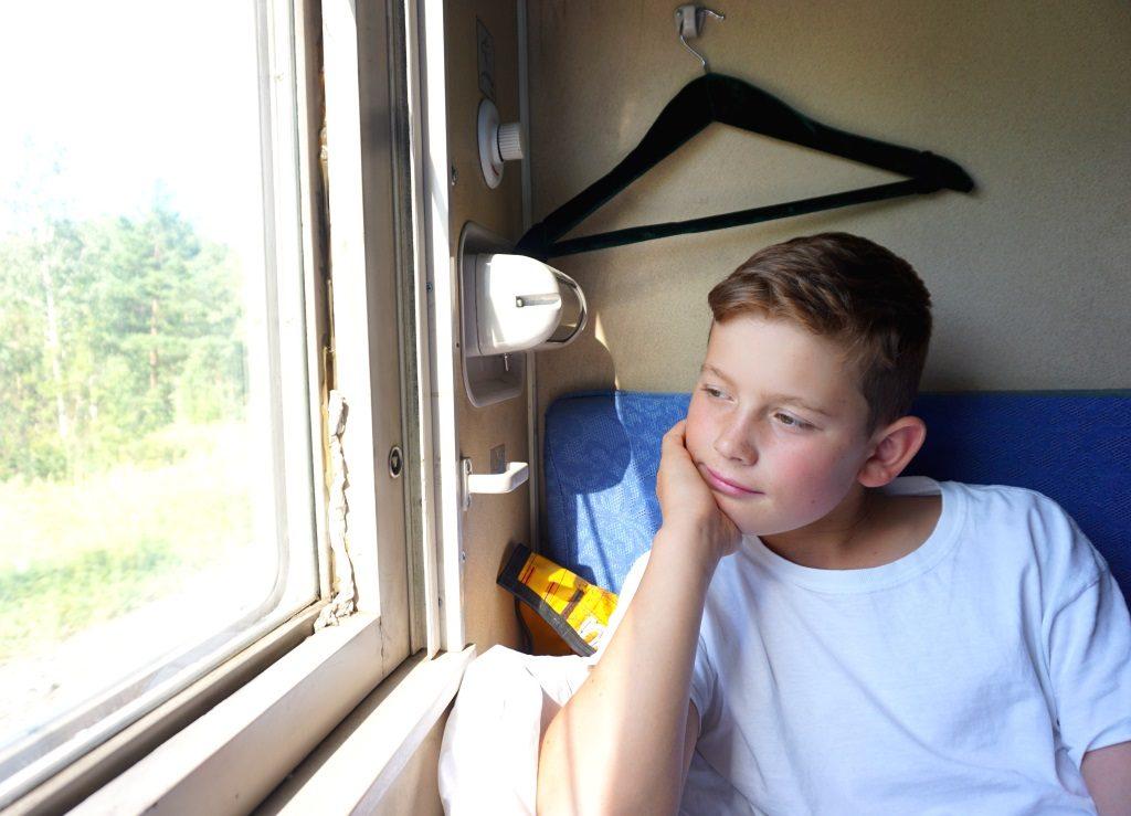 Blick aus der Transsibirischen Eisenbahn