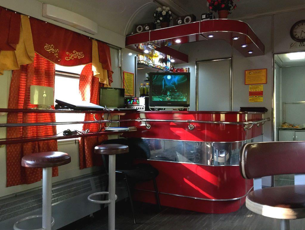Transsibirische Eisenbahn: Speisewagen