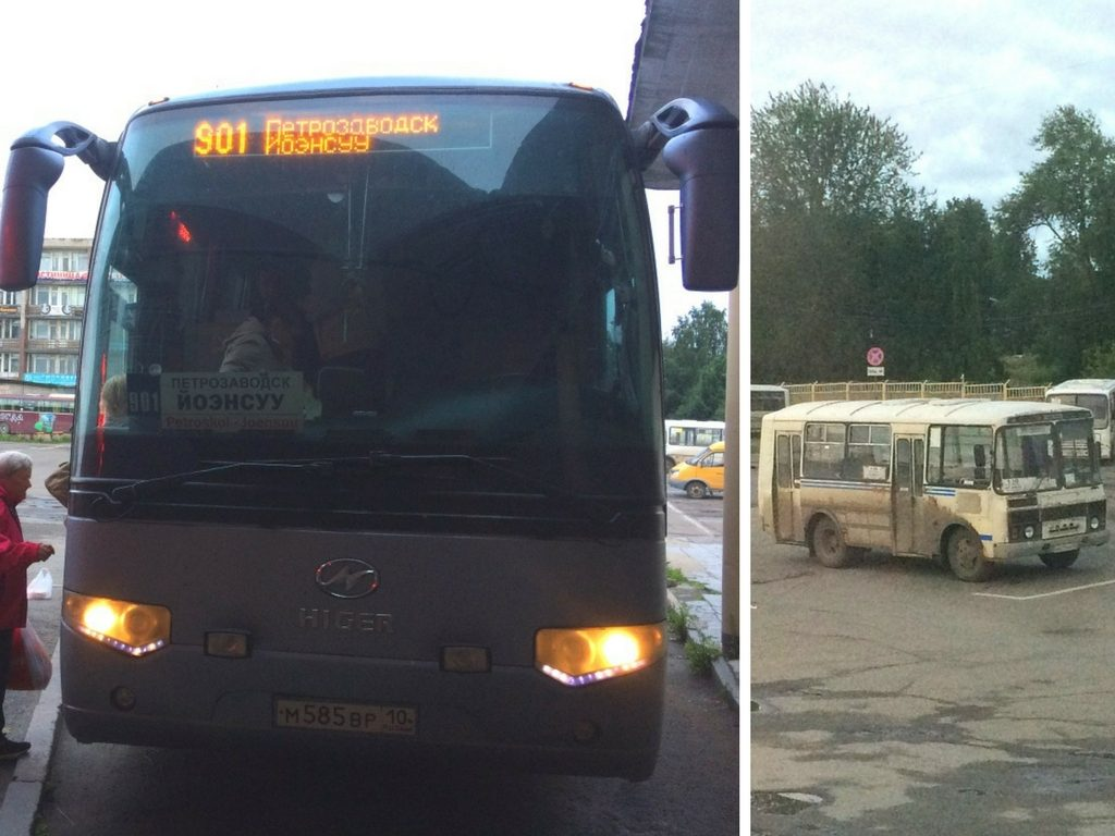 Bus Petrozavodsk - Joensuu