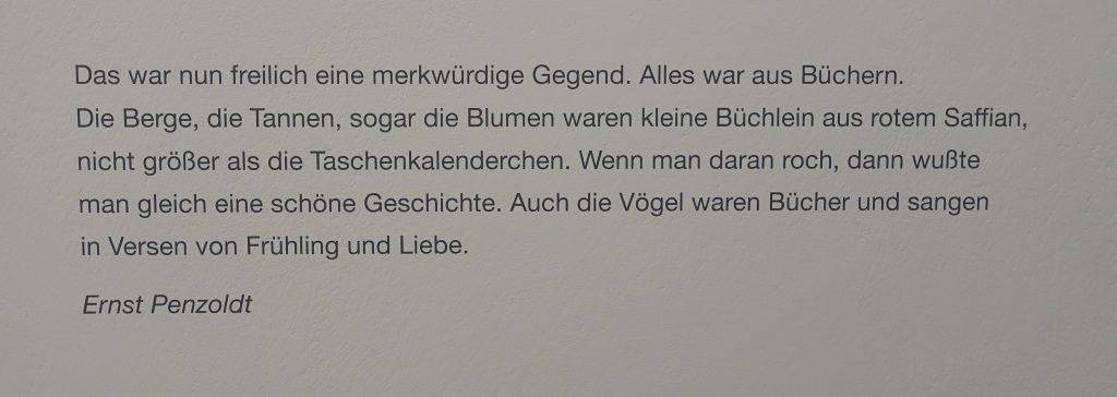 Ernst Penzoldt, Buchwelten Bad Homburg