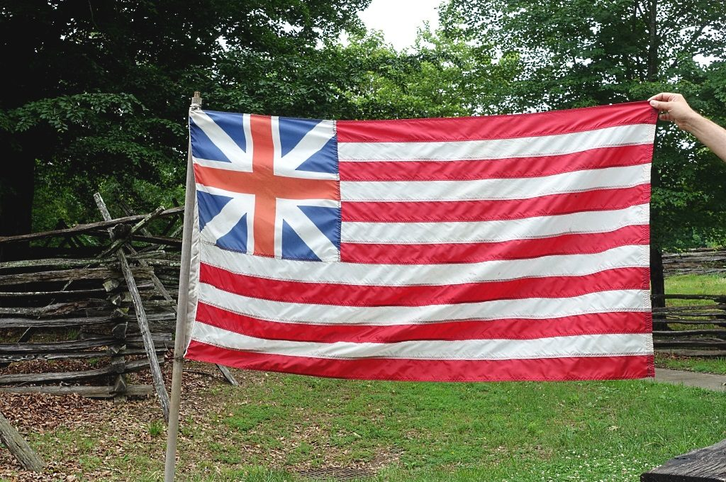 Colonial Williamsburg: colonial flag