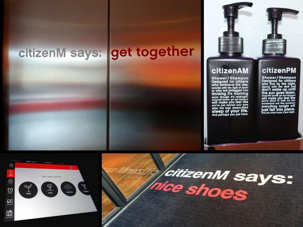 Citizen M communication design