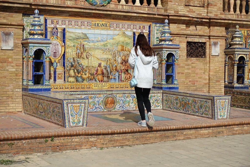 Plaza de España: Azulejos