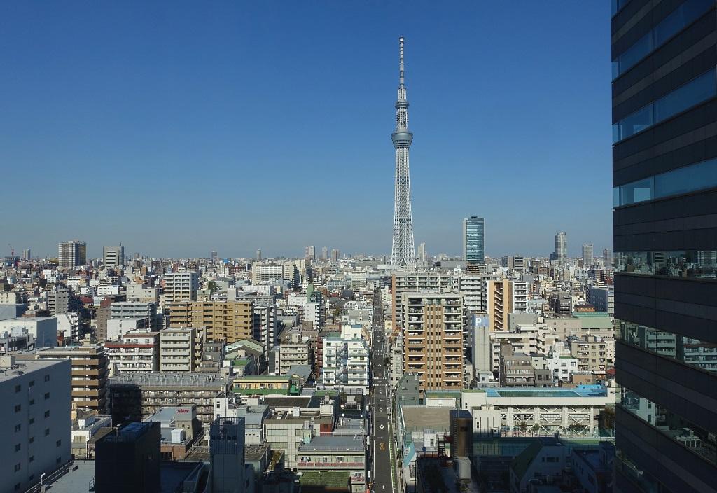 Tobu Hotel Levant Tokyo: Tokyo Skytree view