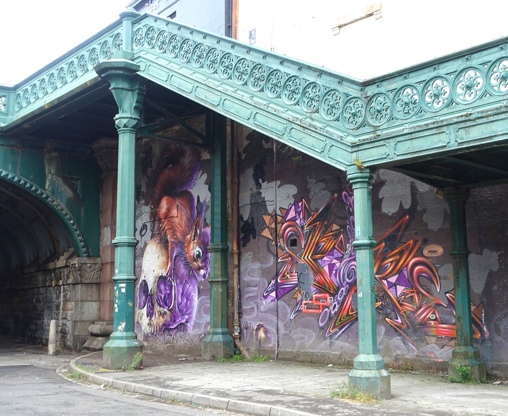 Glasgow mit Teenagern: Street Art